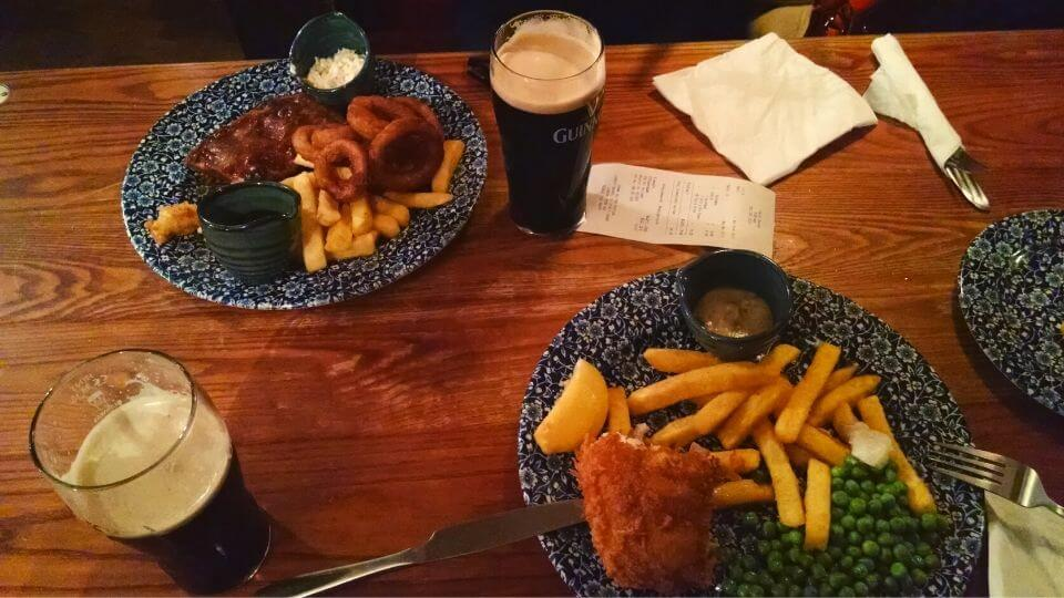 Londres Pub fish e chips