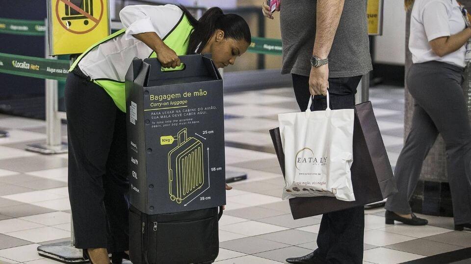 bagagem de mão voo nacional