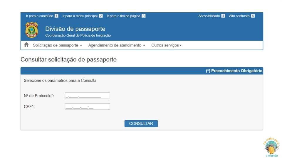 Como tirar o passaporte pela primeira vez Consulta